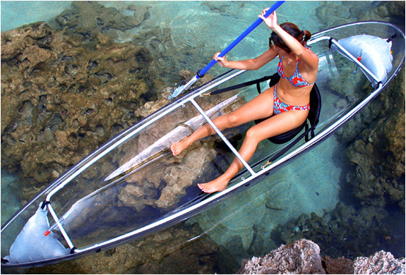 Clear Blue Hawaii - Person Transparent Kayak | FancyCrave