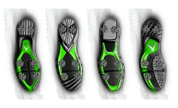 Outsole concept sketches by David Seidner at Coroflot