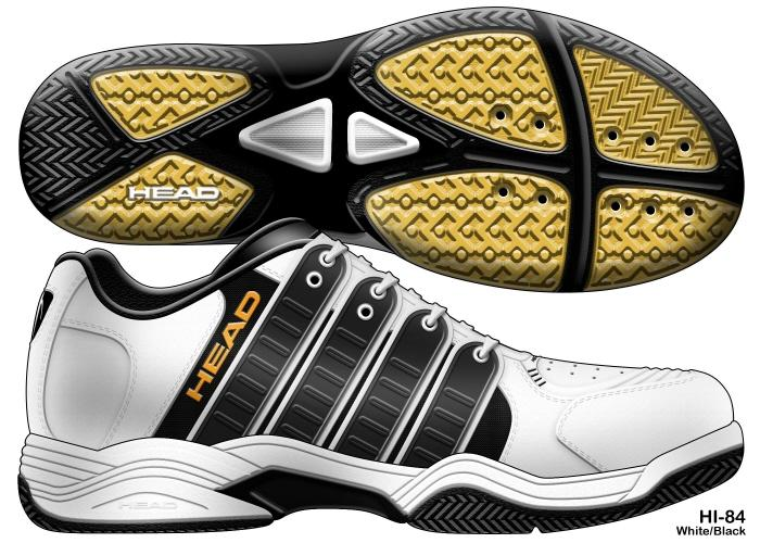Badminton shoe rendering by David Seidner at Coroflot