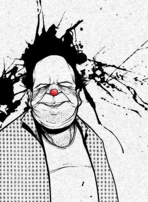 Old Clown by ~RodrigoWilliam
