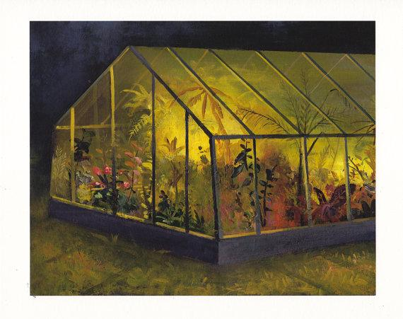 Greenhouse At Night Archival Print by jeremymiranda on Etsy