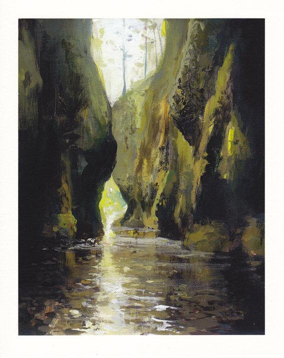 Oneonta Gorge Archival Print by jeremymiranda on Etsy