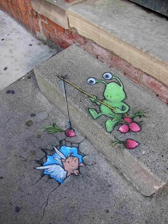 STREET ART UTOPIA » We declare the world as our canvas » Chalk Art by David Zinn – A Collection