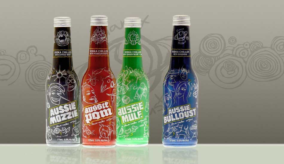 REB DESIGN : Brand identitity, development, merchandising, packaging design case study - Aussie Vodka