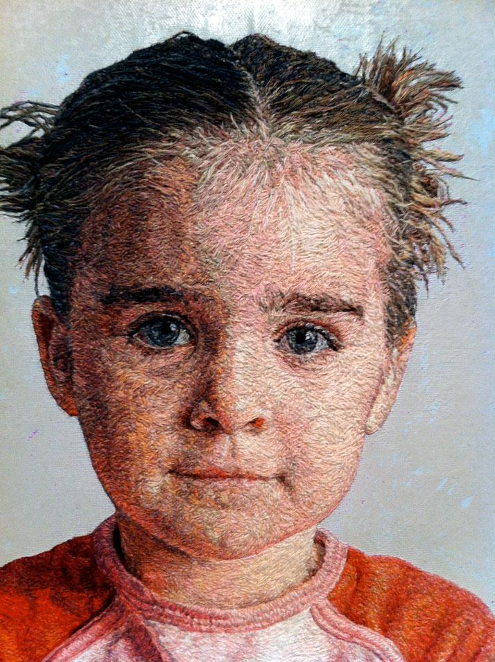 "Cayce Zavaglia's Photo Realistic Embroidered Portraits | Yatzerâ""¢"