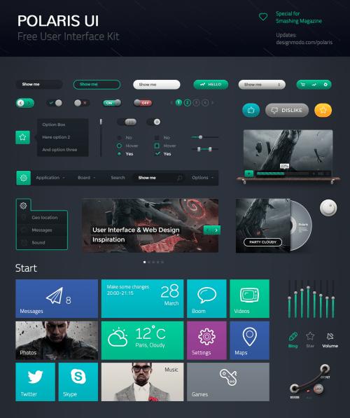 Polaris Free UI by Vladimir Kudinov