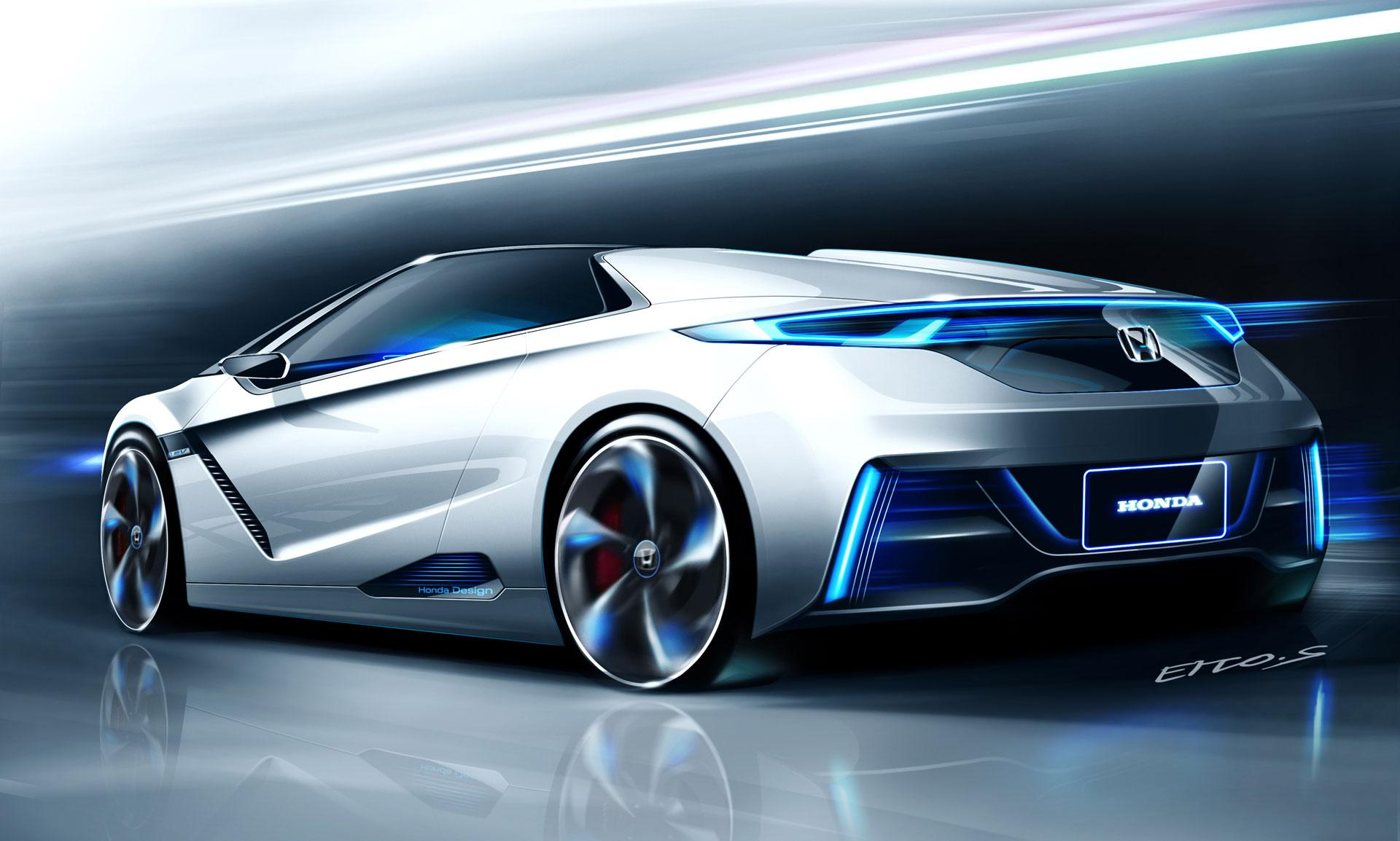 Honda EV-STER Concept Design Sketch - Car Body Design