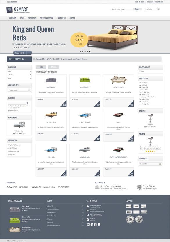 Osmart, Premium osCommerce Responsive Store Theme   Premium Download
