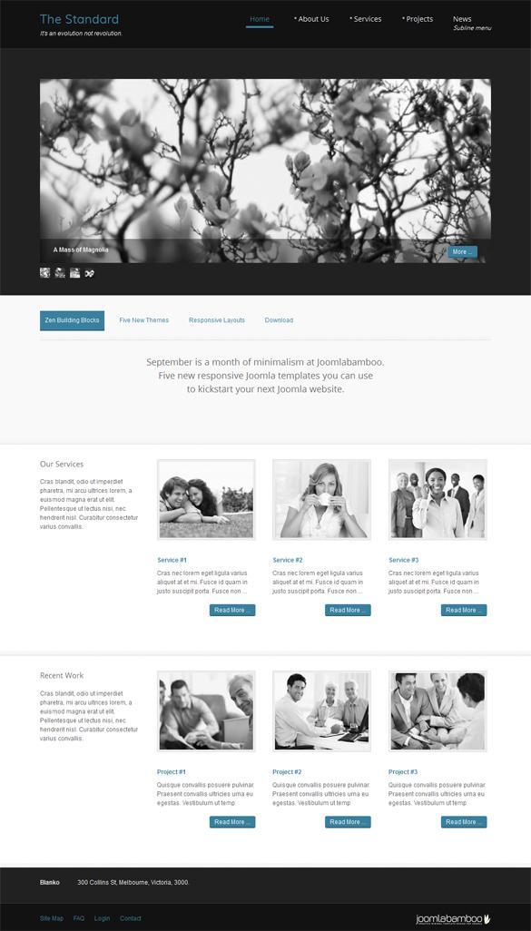 Standard, Joomla Minimalist Business Portfolio Template | Premium Download