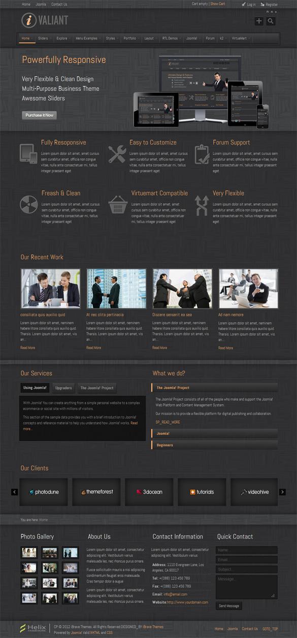 Ivaliant, Joomla Premium Clean Responsive Template | Premium Download