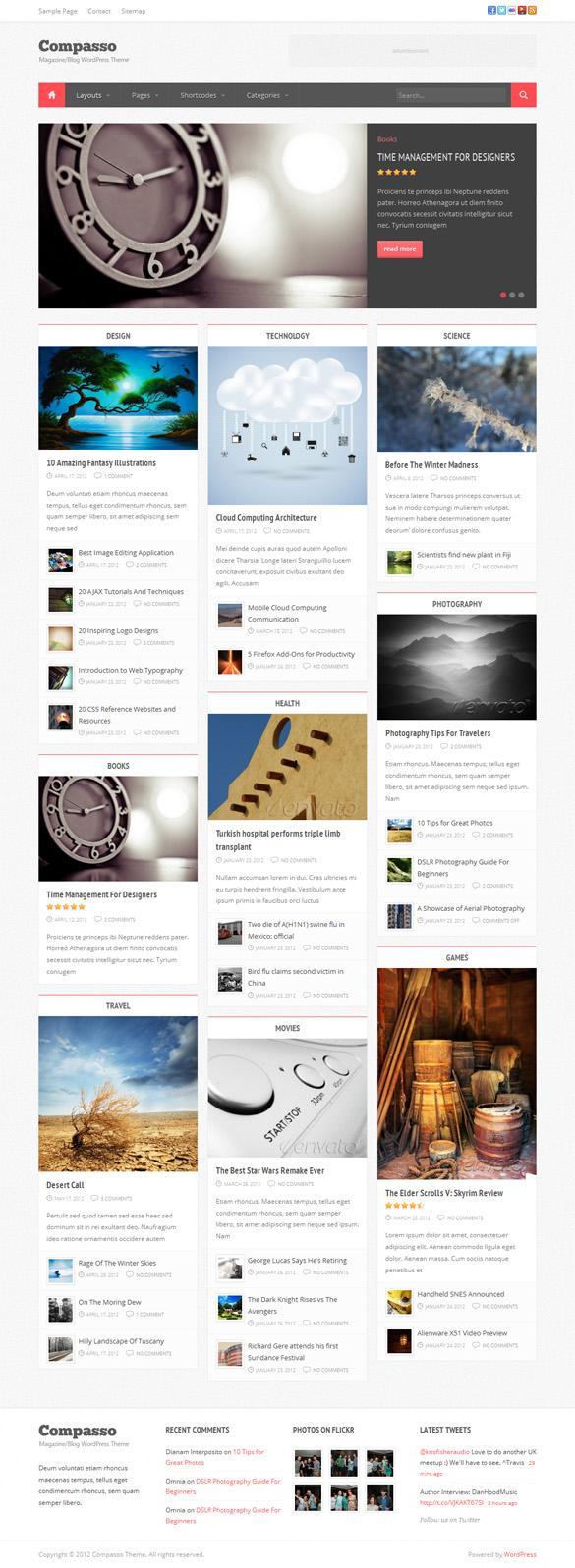 Compasso, WordPress Premium Masonry Magazine Theme | WP Download