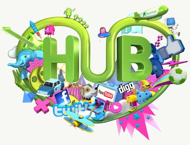 HUB IT! Life Illustration - copyright StarHub 2011. - Recent - Finger Industries