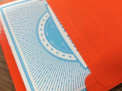 Envelope + Letterpress Holiday Card by Alexandra Bond