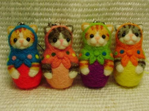 猫マトリョーシカ ストラップの作り方|人形|ぬいぐるみ・人形 | アトリエ
