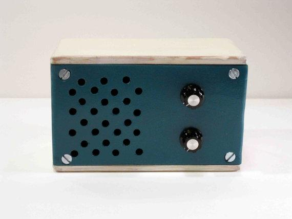 Small wooden FM Radio and MP3 speaker by MrERegal on Etsy