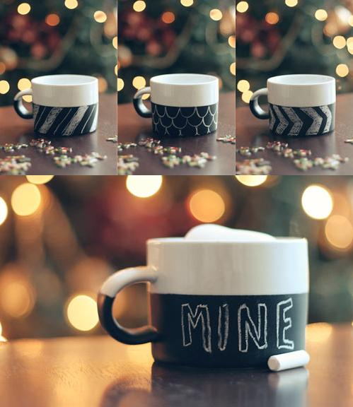 Fancy - DIY Chalkboard Mug