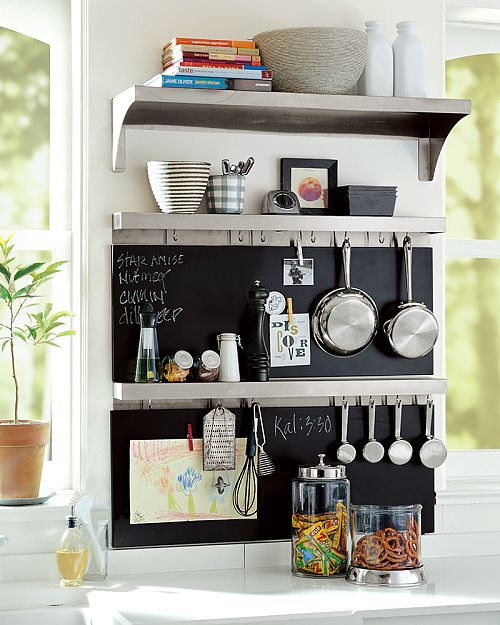 Fancy - Stainless-Steel Utility Shelf with Hooks