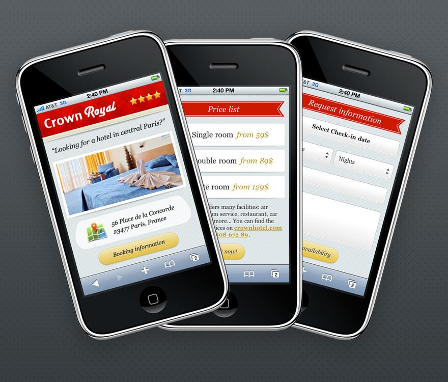 Mobi iPhone Landing Page - Mobile Interface - Creattica