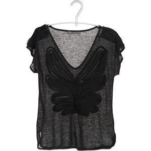 EKYOG Tshirt Lin Noir - Polyvore