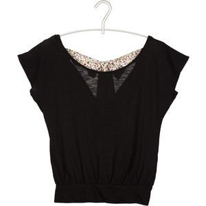 Naf Naf T-Shirt Noeud Noir - Polyvore