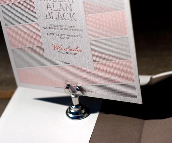 Letterpress Wedding Invitations   Anais Design   Bella Figura Letterpress