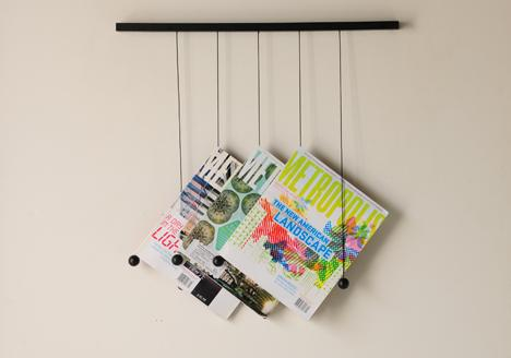 Newspaper Table and Magazine Hanger by Isaac Yu Chen » Yanko Design