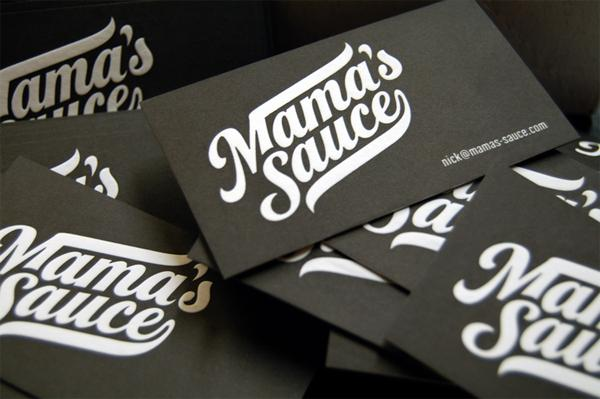 Mama's Sauce Business Cards - FPO: For Print Only