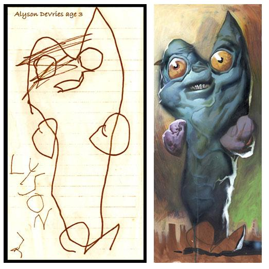 What children's drawings would look like if it were painted realistically