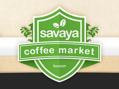 Savaya Coffee Market Logo by Mark Garity