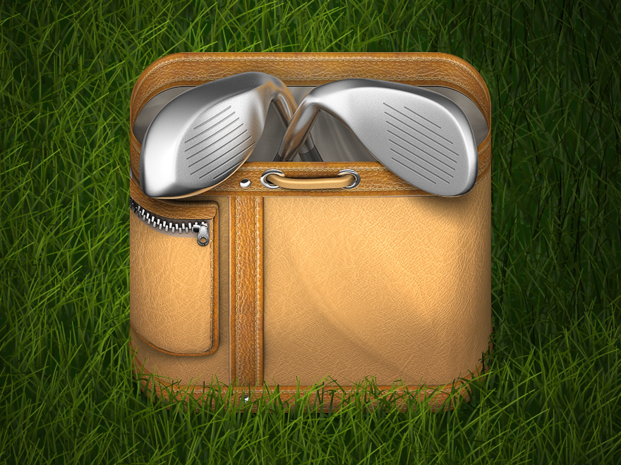 Golfbag_grass_dribbble.png by Konstantin Datz