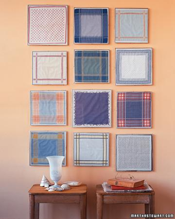 Framed Handkerchiefs - Martha Stewart Crafts