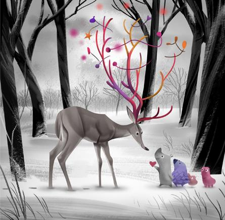 40 Jolly Christmas Based Illustrations | inspirationfeed.com