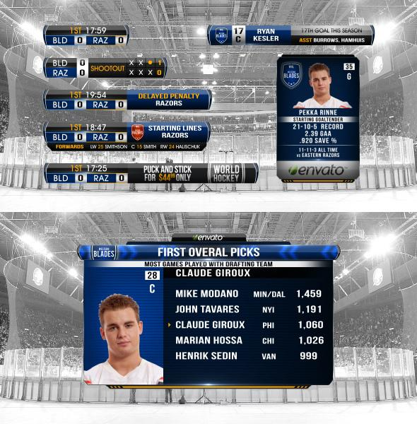After Effects Project Files - Complete On-Air Hockey Package | VideoHive