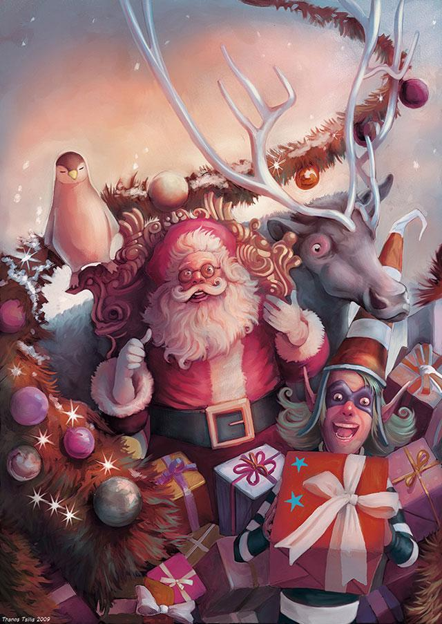 40 Jolly Christmas Based Illustrations | inspirationfeed.com
