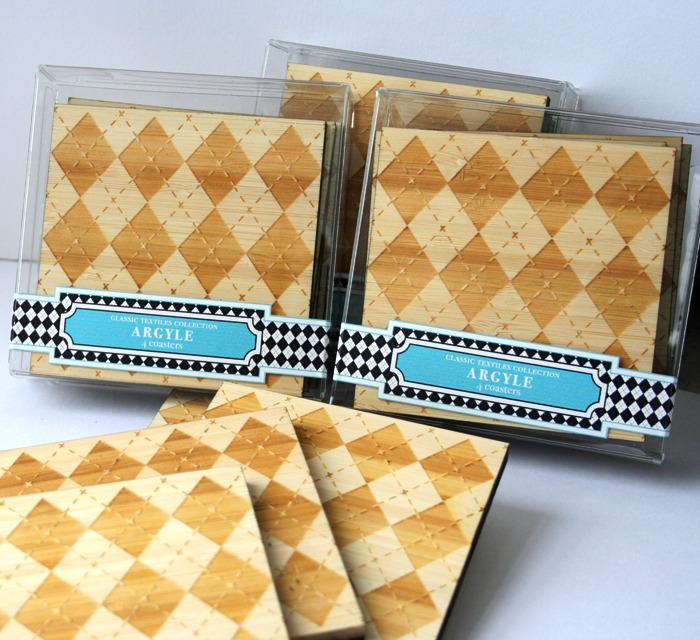 Argyle Coasters from Masters of None | FancyCrave