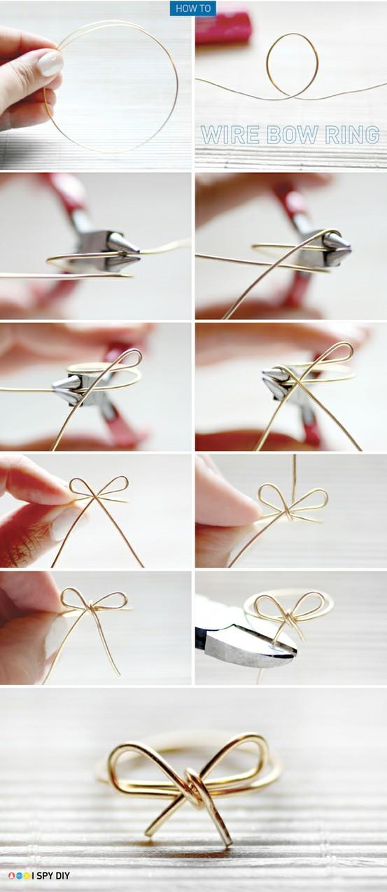 Wire Bow Ring DIY Projects | UsefulDIY.com