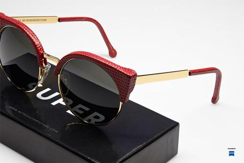 Super Ilaria Red Lizard Sunglasses | Dressed In Red