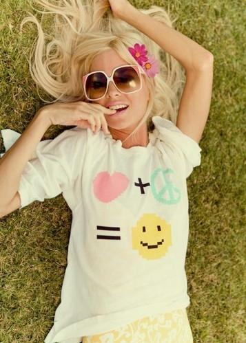 Blonde Fashion Happy Love Love peace and happiness Model Peace Words Text - PicShip