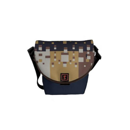 Brown/Blue abstract Messenger Bag from Zazzle.com