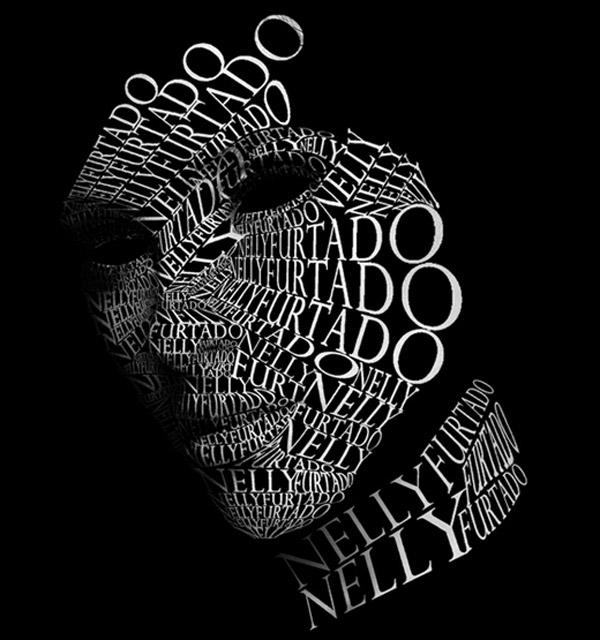 10 Beautiful Human Portrait Typography Designs | inspirationfeed.com