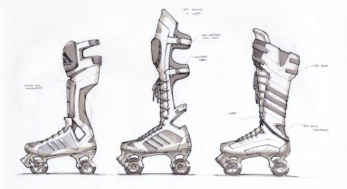roller derby quads by Nathan Durflinger at Coroflot