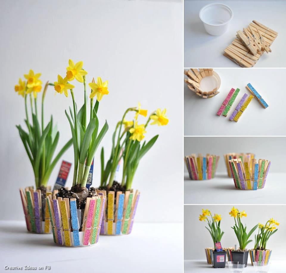 Diy Projects Diy Clothespin Flower Pot Diy Projects Usefuldiycom 224837 On