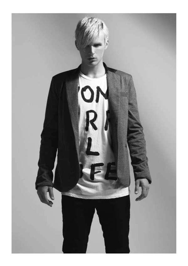 Monochromatic Punk Editorials - The PopIssue Fall/Winter 2012 Lookbook is Rock and Roll-Inspired (GALLERY)
