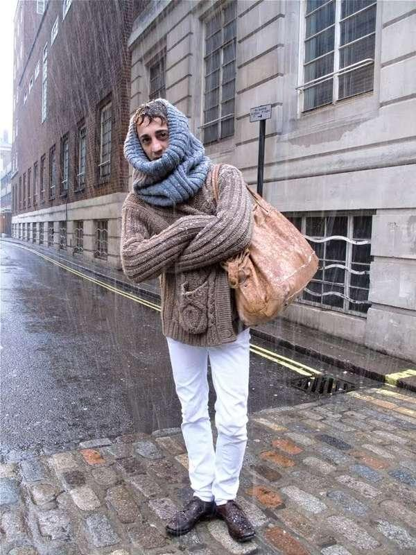 Sweaterless Turtlenecks - The Hipster Tube Scarf is like a Scarf With No End (GALLERY)