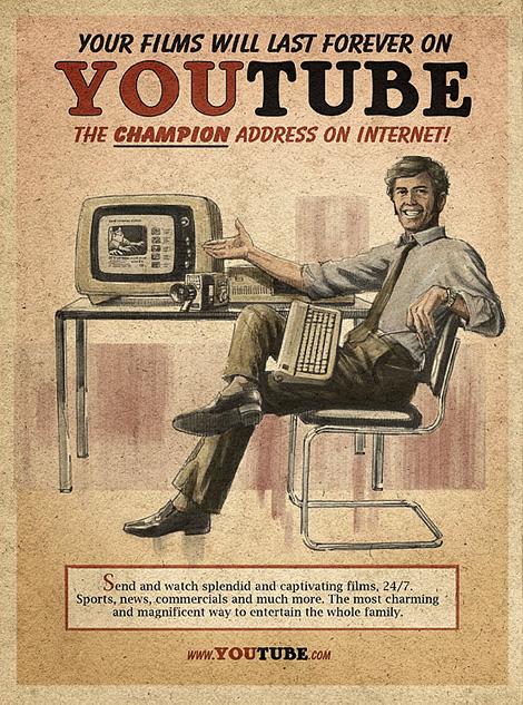 Vintage Facebook, Skype & YouTube posters at iainclaridge.net