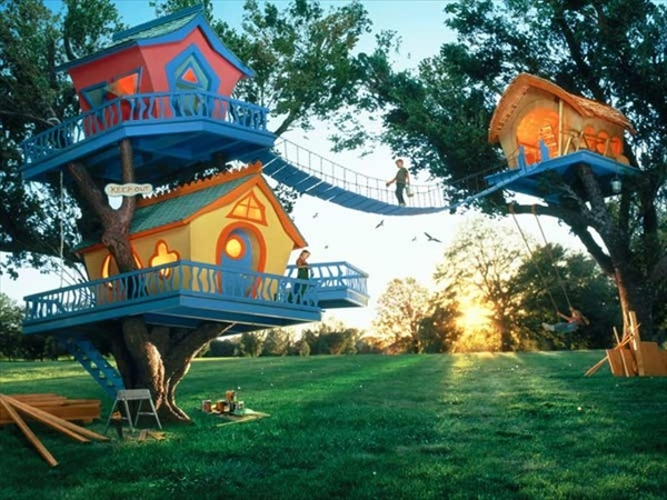 33 Simple And Modern Kids Tree House Designs | Freshnist