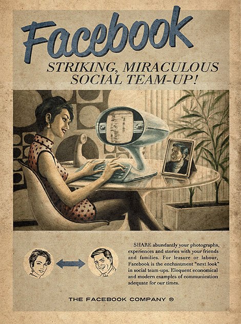 Vintage Facebook, Skype & YouTube posters at iainclaridge.net