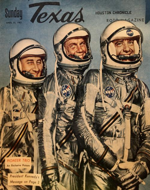 Pioneer trio - Gus Grissom, John Glenn, Alan...