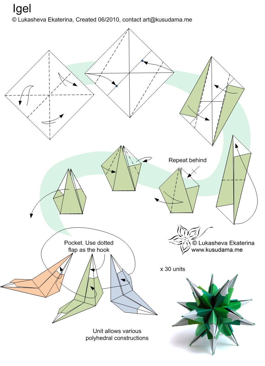 Modular Origami Folding Instructions  How to make a