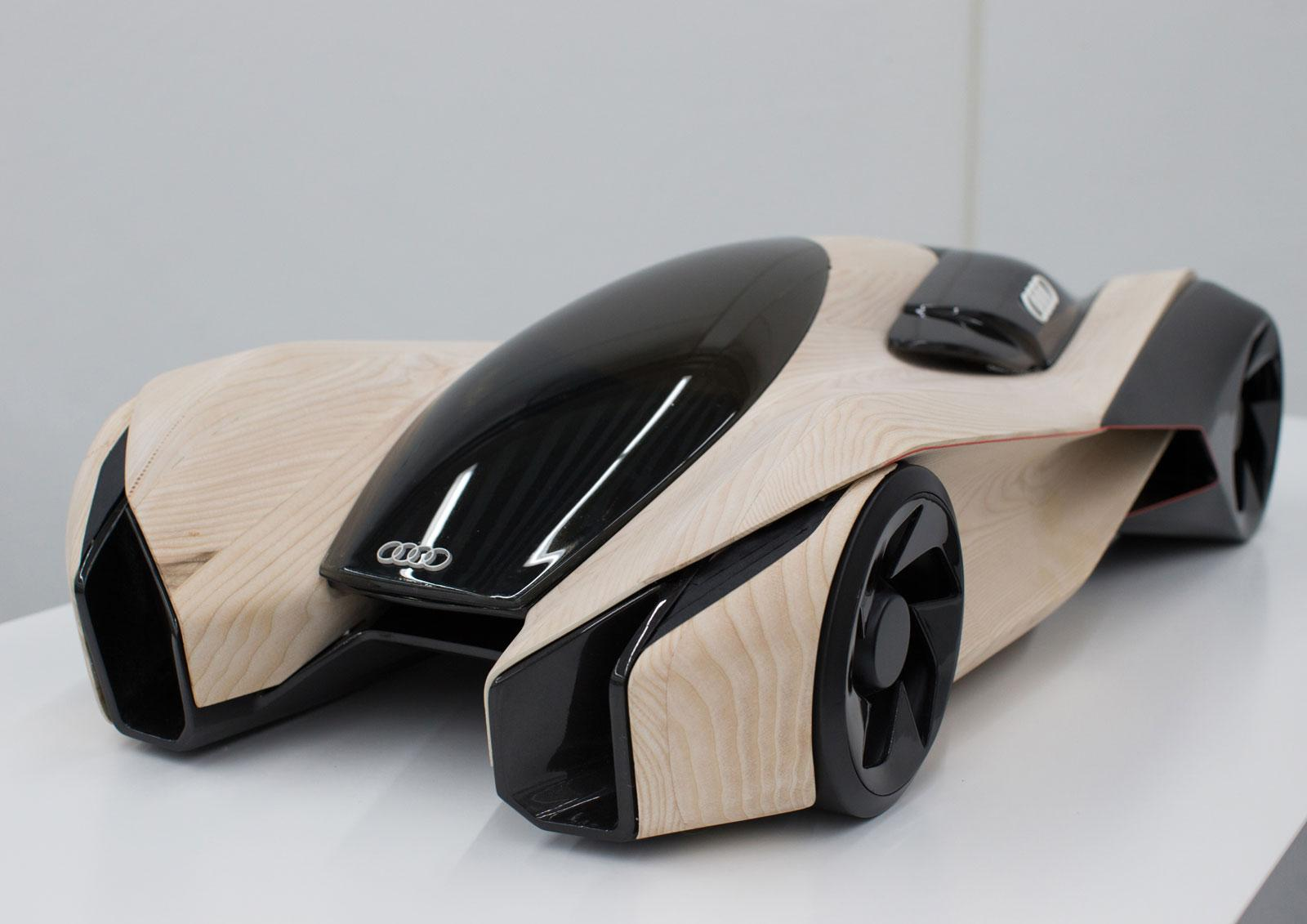 Audi Wood Aerodynamics Concept by Pavol Kirnag - Scale model - Car Body Design